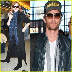 Jessica Chastain & Matthew McConaughey Take the Skies For 'Interstellar'