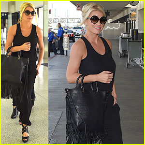 Jessica Simpson Is All About The Fringe at LAX Airport
