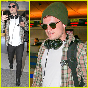 Josh Hutcherson Lays Low At LAX After Latest 'Hunger Games' Teaser