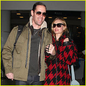 Kate Bosworth & Michael Polish Fly Back to Los Angeles on His 44th Birthday