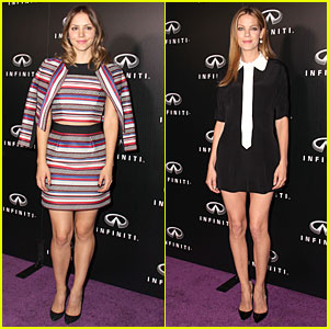 Katharine McPhee & Michelle Monaghan Bring Beauty To Infiniti Opening