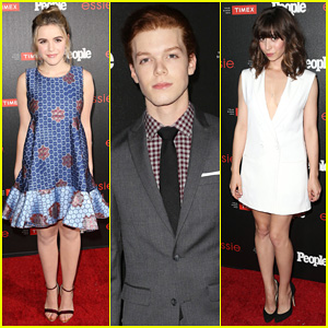 Kiernan Shipka & Cameron Monaghan Get Dressed Up for 'People's Ones To Watch Party!