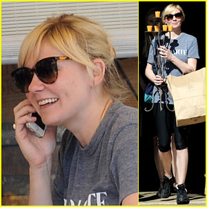 Kirsten Dunst Just Needs Lunch & New Candle to Make Her Happy