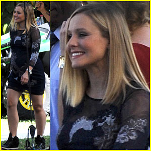Kristen Bell Shows Off Her Growing Baby Bump on 'House of Lies' Set