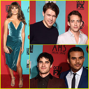 Lea Michele & 'Glee' Cast Get Ready To Be Scared at 'American Horror Story: Freak Show' Premiere