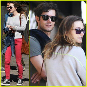 Leighton Meester & Adam Brody Take Their Family to Lunch