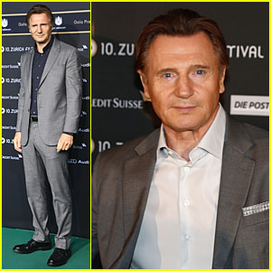 Liam Neeson Suits Up For a 'Walk Amongst the Tombstones' at Zurich Film Festival