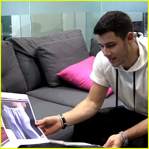 Nick Jonas Plays Game of Guess the Celebrity Bulge (Video)