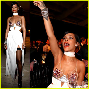 Rihanna Spends $135,000 on amfAR Gala Auctions!
