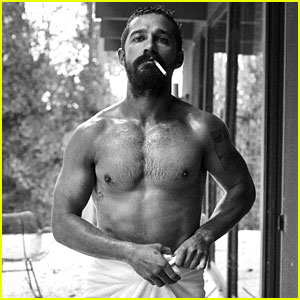 Shia LaBeouf Goes Shirtless in Just a Towel for 'Interview' Mag!