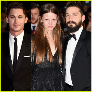 Shia LaBeouf Brings Mia Goth to 'Fury' London Premiere