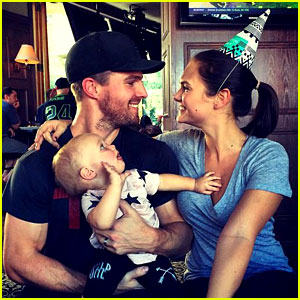 Stephen Amell Celebrates Wife Cassandra's Birthday with Daughter Mavi!