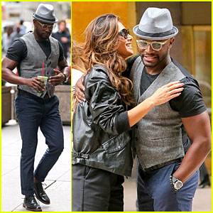Taye Diggs Runs Into Nicole Scherzinger at SiriusXM Radio