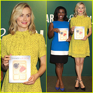 Taylor Schilling & Uzo Aduba Get Cooking at Barnes & Noble