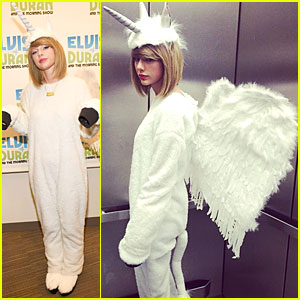 Taylor Swift Dresses Like a Pegacorn For Halloween