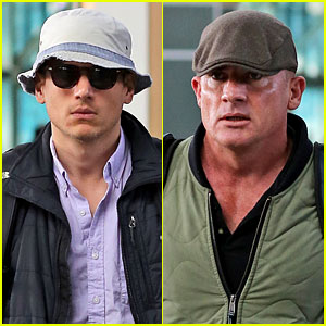 Wentworth Miller & Dominic Purcell Leave Vancouver in a 'Flash'