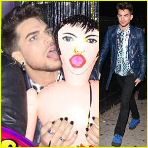 Adam Lambert Licks a Blow Up Doll at Miley Cyrus' 22nd Birthday Party!