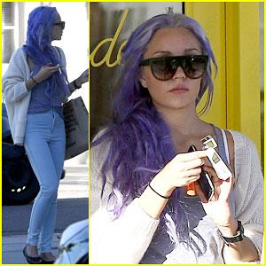 Amanda Bynes Shows Off Her New Purple Hair