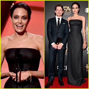 Angelina Jolie Is 'Unbroken' at Hollywood Film Awards 2014