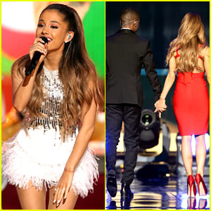 Ariana Grande & Boyfriend Big Sean Hold Hands On Stage at Grammy Christmas Concert!