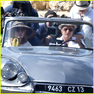 Brad Pitt Drives Angelina Jolie Around for 'By the Sea' Filming