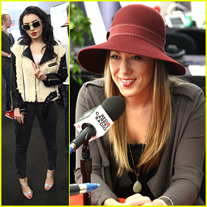 Colbie Caillat & Charli XCX Stop By Radio Row Ahead of AMAs 2014