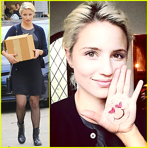 Dianna Agron Shows Support for World Adoption Day