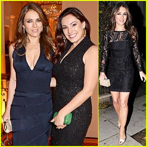 Elizabeth Hurley & Kelly Brook Meet Up & Make It Sexy at Louis Dundas Centre Dinner