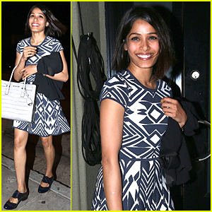 Freida Pinto Knows How to Dress For Dinner at Craig's