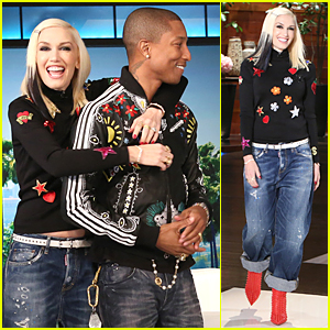 Gwen Stefani & Pharrell Williams Give 'Spark The Fire' Music Video Sneak Peek on 'Ellen' - Watch Now!