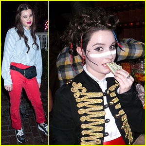Hailee Steinfeld & Kaitlyn Dever Take a Wildfox Bite Out of Just Jared's Halloween Party!