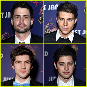 James Lafferty & Nolan Gerard Funk Bring Hunk Appeal to Just Jared's Homecoming Dance Presented By Ever After High!