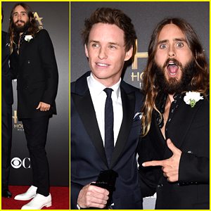 Jared Leto Goofs Around with Eddie Redmayne at Hollywood Film Awards 2014!