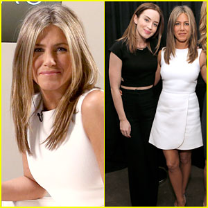 Jennifer Aniston & Emily Blunt Have Girl Time During Actors on Actors