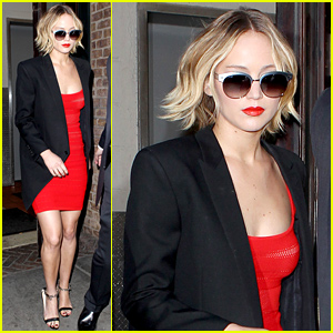 Jennifer Lawrence's Tight Red Dress May Be One of Her Sexiest Looks Yet!