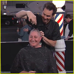 Jim Carrey Gives Bowl Cuts & Shaves a Woman's Head (Video)