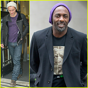 Jude Law & Idris Elba Wear Purple & Still Look Like Studs!