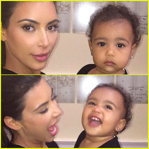 Kim Kardashian Helps North West Practice Her Paparazzi Face