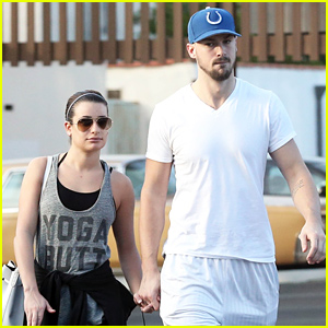 Lea Michele Holds Hands with Her Boyfriend Matthew Paetz