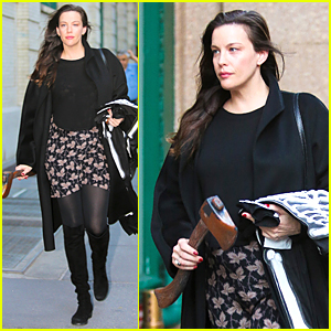Liv Tyler Brings Fake Axe Out Before Halloween