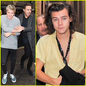 One Direction Prep For Royal Variety Performance in London