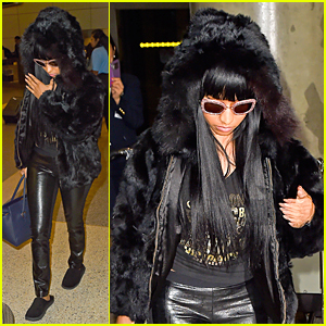 Nicki Minaj Makes Fur Coat Statement After 'Only' Lyric Video Controversy