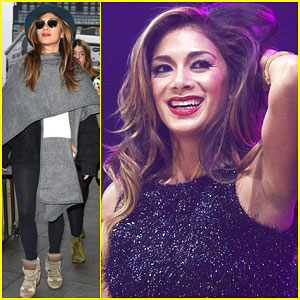 Nicole Scherzinger Fans Give Her Life at Metro Radio Live Christmas Show