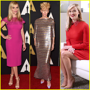 Reese Witherspoon & Tilda Swinton Get All Dressed Up for the Governors Awards