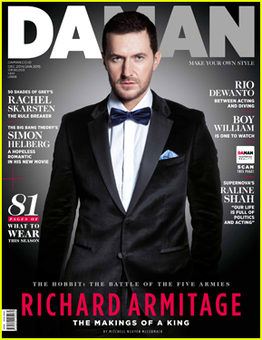 Richard Armitage Dresses Like James Bond For 'Da Man' Cover