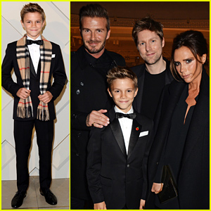 Romeo Beckham Launches His Burberry Campaign with Support From Victoria & David Beckham!