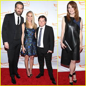 Ryan Reynolds & Julianne Moore Help Raise Millions of Dollars at a Michael J. Fox Foundation Event