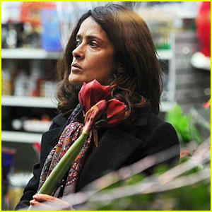 Salma Hayek Looks for the Perfect Flowers for Her London Thanksgiving