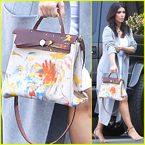 See the Hermes Handbag North West Painted for Kim Kardashian's Birthday Gift!