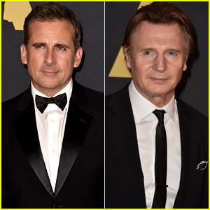 Steve Carell & Liam Neeson Suit Up for Governors Awards 2014